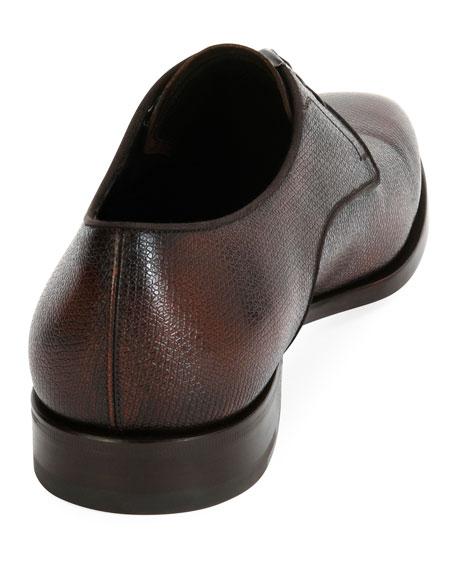 Men's Textured Calfskin Leather Blucher