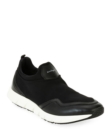 Neoprene & Leather Trainer Sneaker