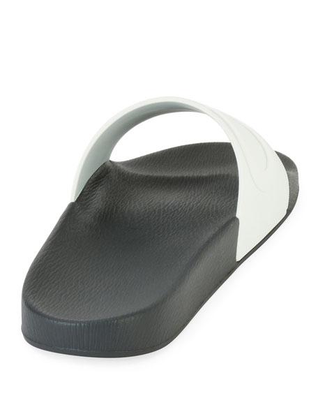 Men's Embossed Gancini Slide Sandal