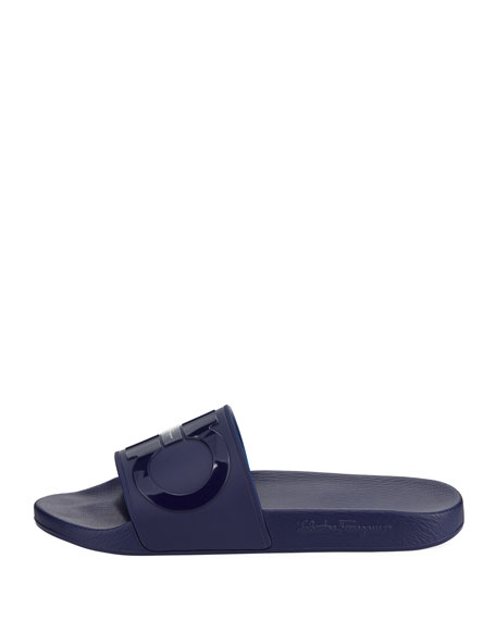 Men's Gancini Pool Slide Sandals, Blue