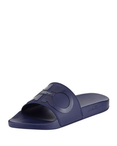 Men's Gancini Pool Slide Sandals, Blue