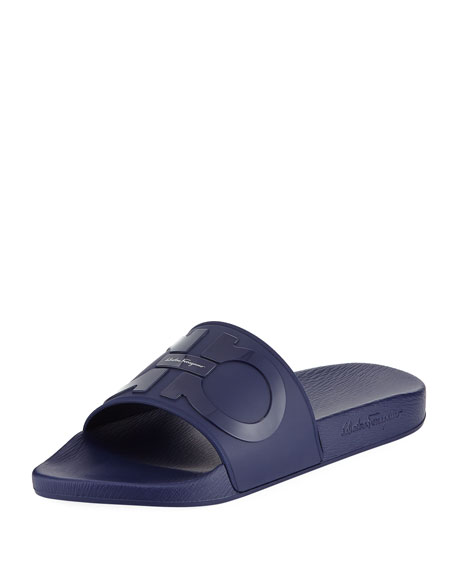 Gancini Pool Slide Sandal, Blue