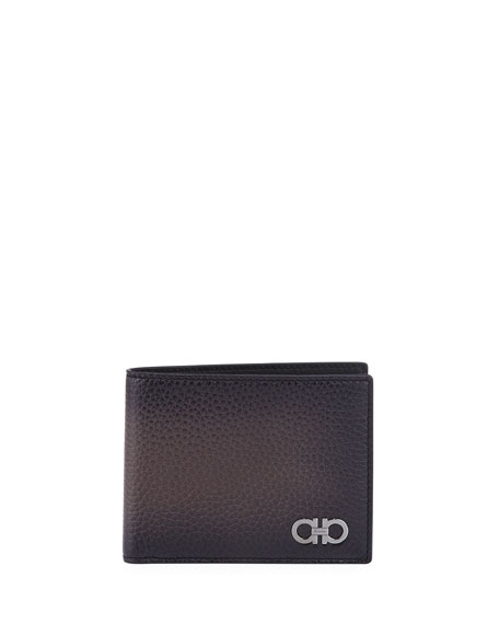 Men's Gancini Leather Bi-Fold Wallet