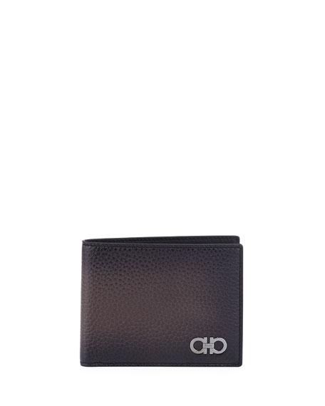 Gancini Leather Bi-Fold Wallet