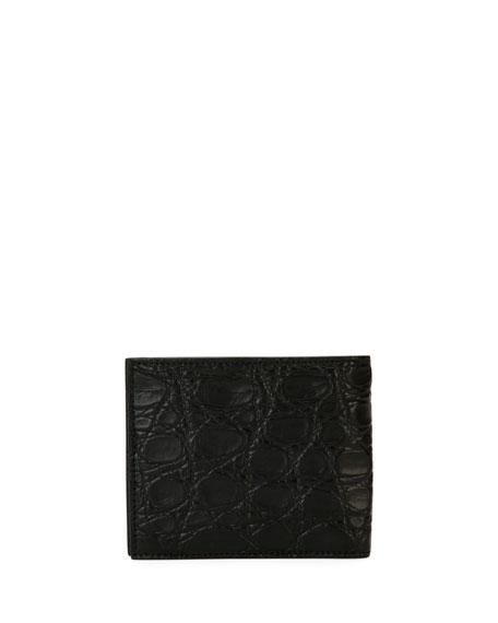 Men's Crocodile 8-Card Bi-Fold Wallet