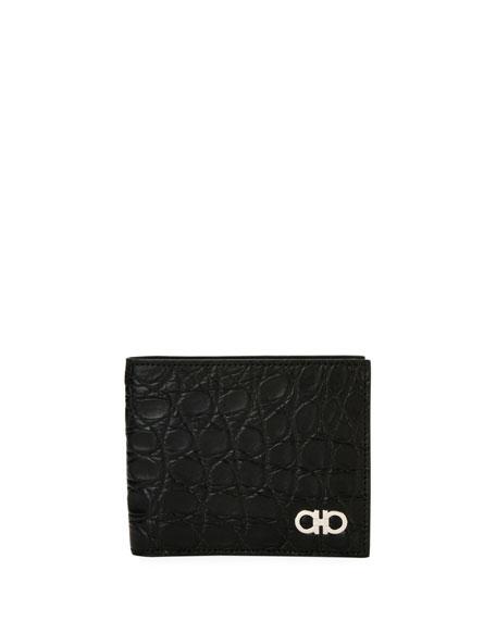 Crocodile 8-Card Bi-Fold Wallet