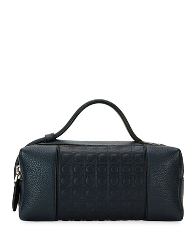 Gancio-Embossed Leather Toiletry Case