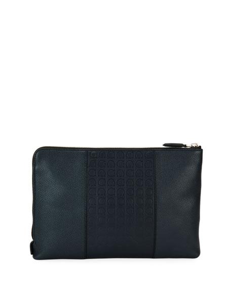 Salvatore Ferragamo Gancio-Embossed Leather Portfolio 9a7063e579ebd