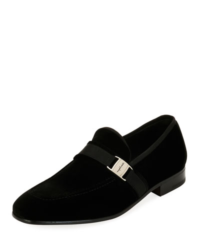 Men's Velvet Formal Loafer, Black