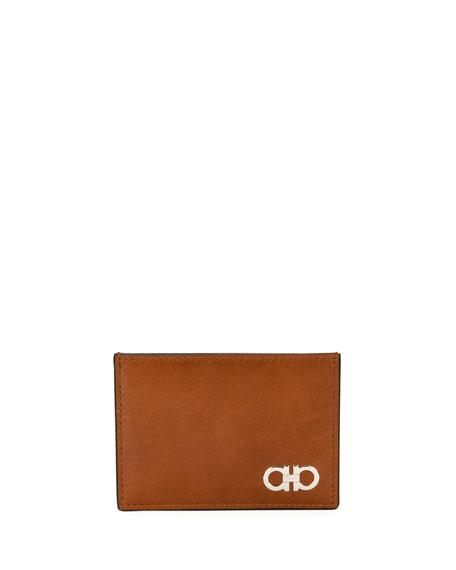 Men's Smooth Calfskin Leather Card Case