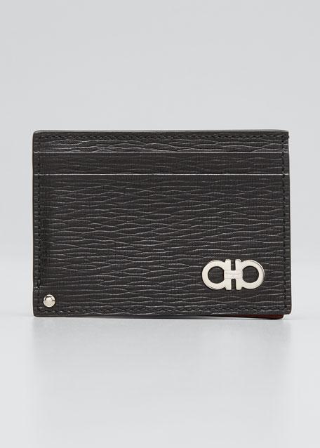 Salvatore Ferragamo Men s Revival Gancini Leather Card Case with Flip-Out  ID Window 1fc100e2d4819