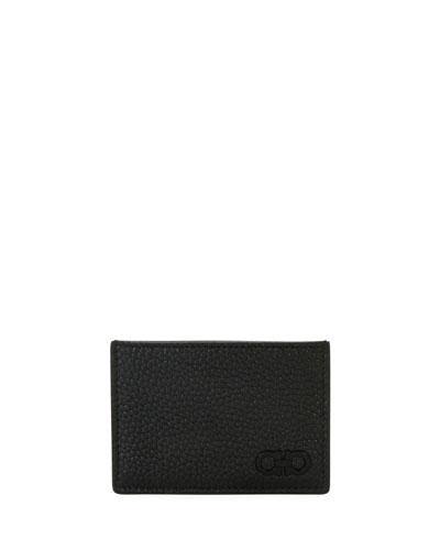 Tonal Gancini Leather Card Case