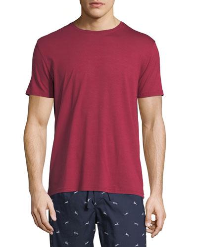 Basel 3 Crewneck Lounge T-Shirt, Red