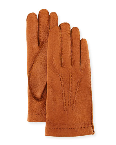Peccary Hand-Sewn Leather Unlined Gloves