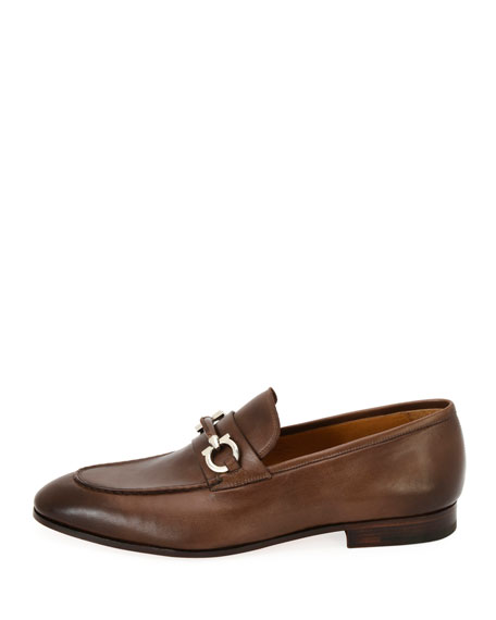 Tramezza Leather Gancini-Belt Loafer
