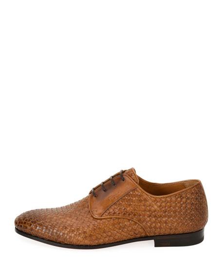 Tramezza Woven Leather Oxford Shoe