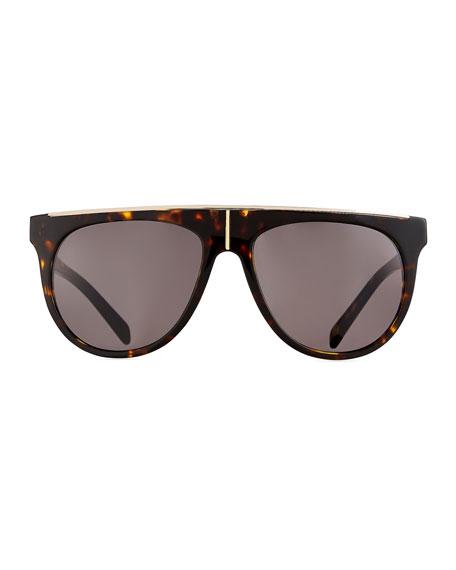 Flat-Top Aviator Sunglasses