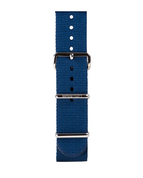 Briston 20mm Nylon NATO Watch Strap, Blue