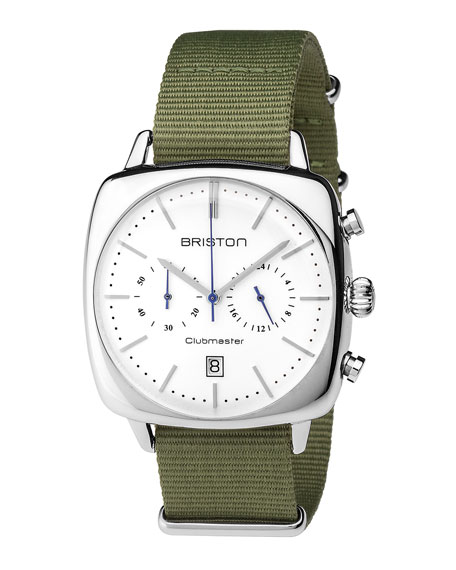 Clubmaster Vintage Chronograph Watch, Green/White