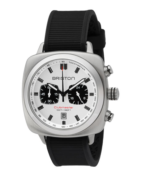 Clubmaster Sport Chronograph Watch, White/Black