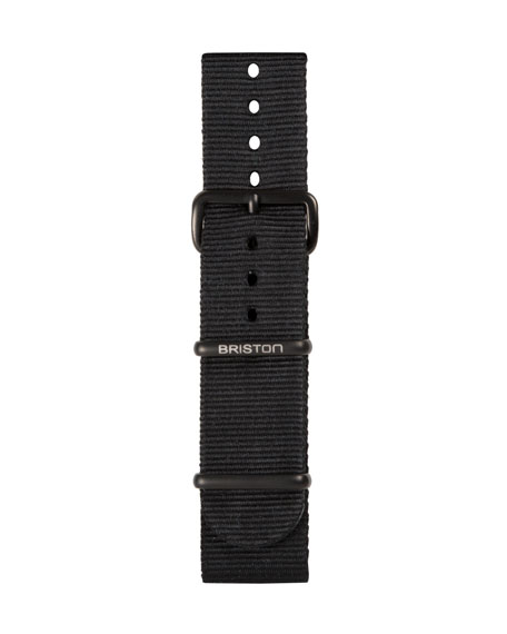 20mm Nylon NATO Watch Strap w/ Matte Buckle, Black