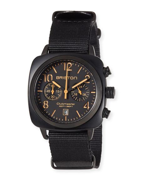 Clubmaster Classic Chronograph Watch, Black/Orange