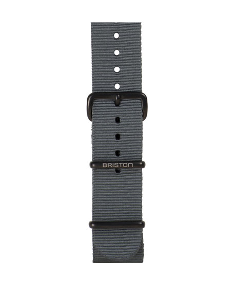 20mm Nylon NATO Watch Strap w/ Matte Buckle, Gray