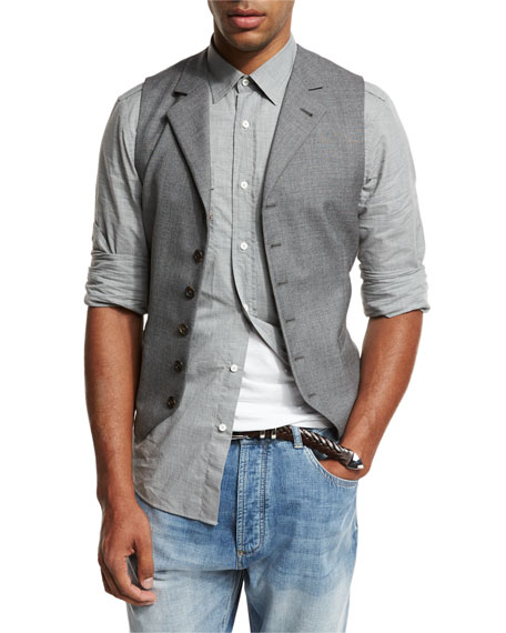 6-Button Wool Waistcoat