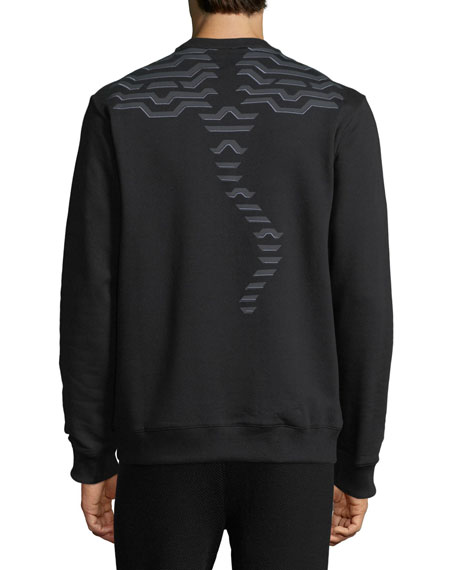 Geometric Tiger-Graphic Sweatshirt
