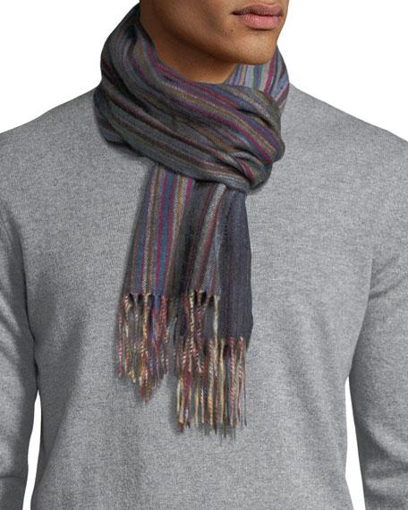 Multi-Stripe Cashmere Scarf