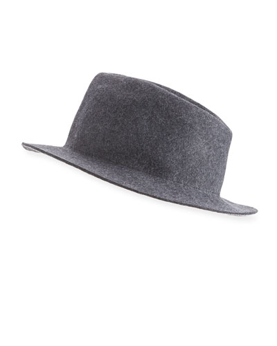 Melange Wool Trilby Hat
