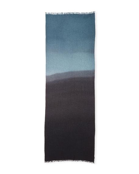 Dip-Dye Herringbone Scarf