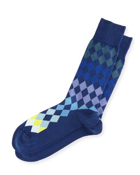 Paul Smith Tonal Harlequin Socks