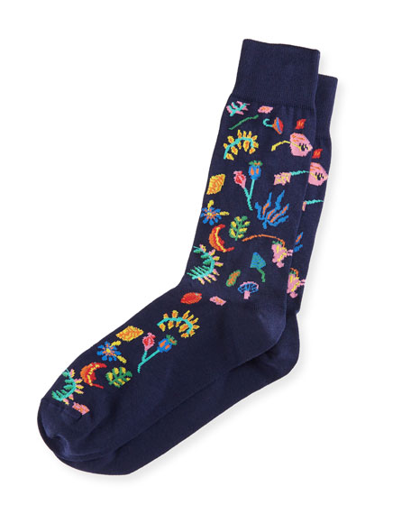 Paul Smith Garden Floral Intarsia Socks