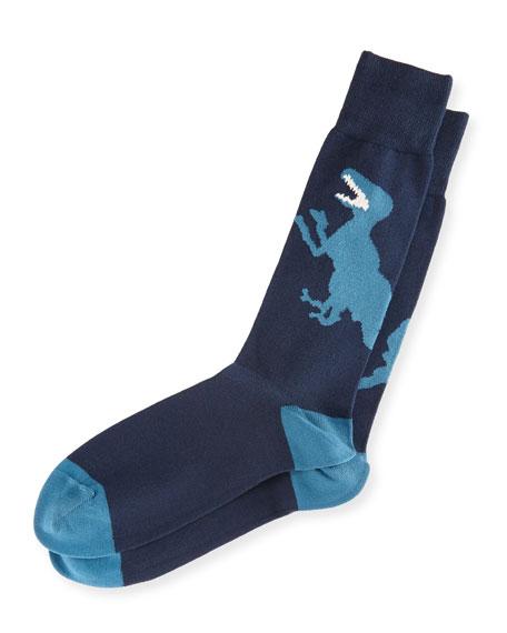 Dinosaur Intarsia Socks