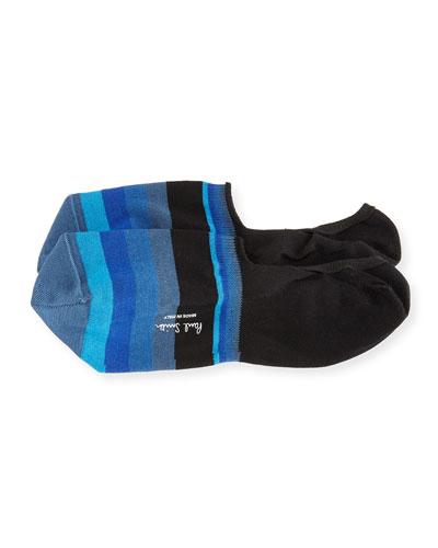 Boston Wide-Stripe No-Show Loafer Socks