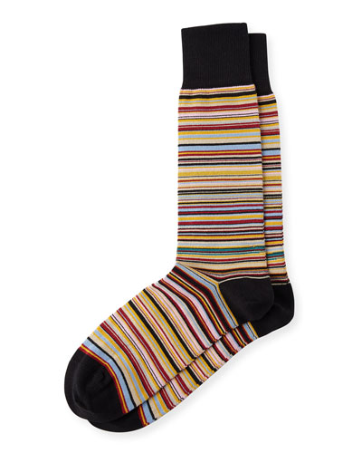 Multicolored Fine Striped Socks
