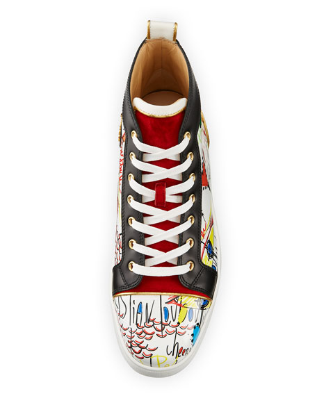 Louis Loubi Tag Men's Lace-Up Sneaker