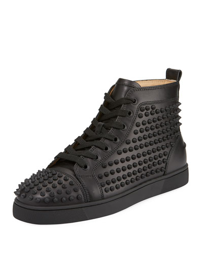 Yang Louis Leather High-Top Sneaker