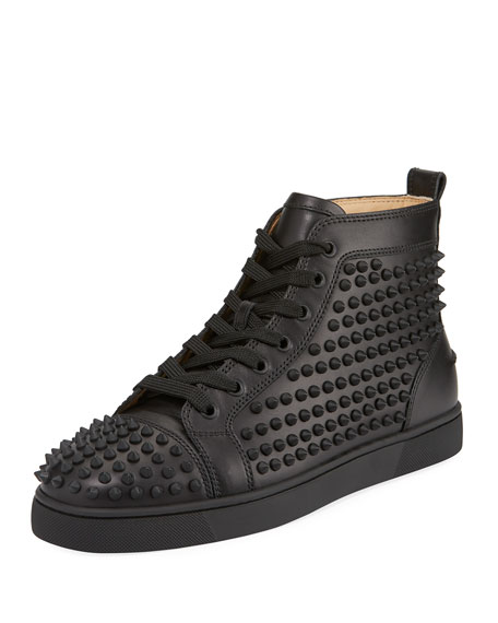 Christian Louboutin Yang Louis Leather High-Top Sneaker