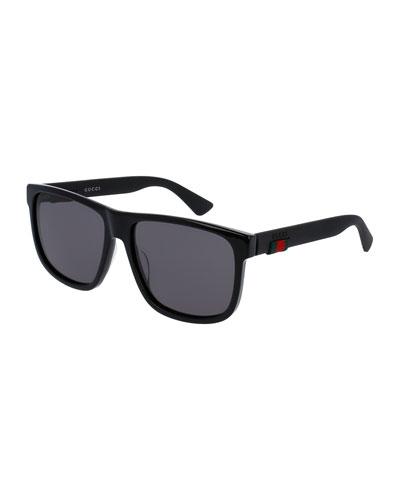 Square Acetate Sunglasses  Black
