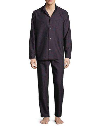 Select Paisley-Print Long Pajama Set