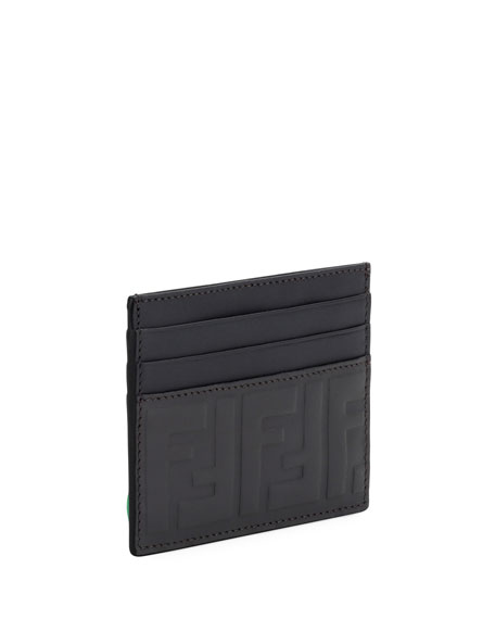 Signature Embossed-Leather Card Case