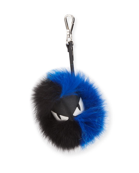 Leather and Fox Fur Bugs Charm