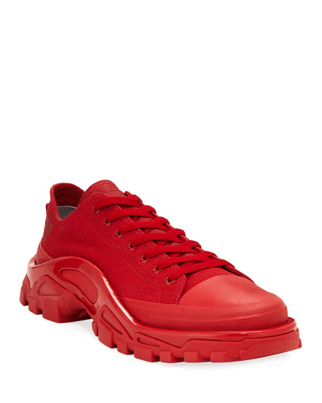 huge discount a70b7 d8b46 adidas by Raf Simons Mens Detroit Runner Canvas Sneakers, Re