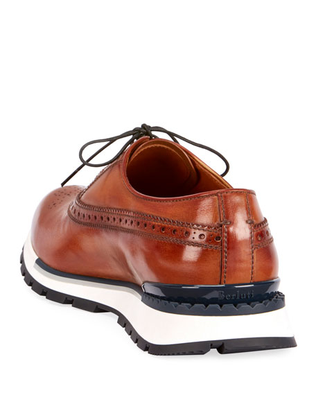 Venezia Leather Brogue Sneaker