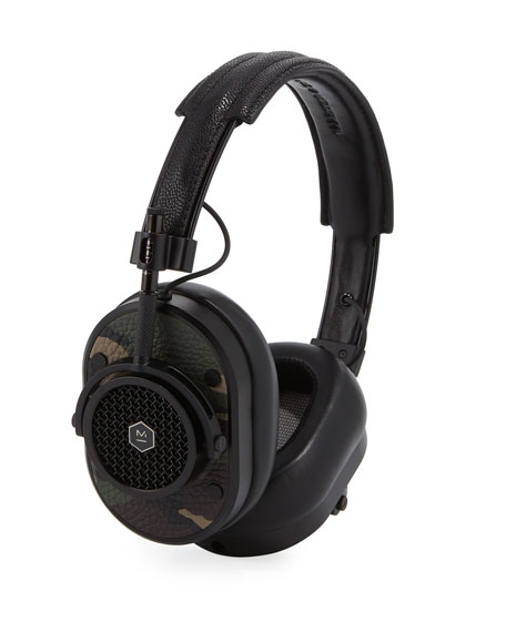 MH40 Noise-Isolating Over-Ear Holiday Headphones, Green