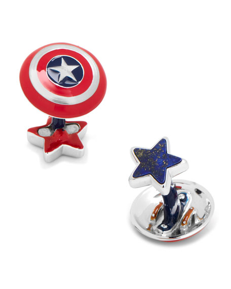 3D Captain America Cuff Links