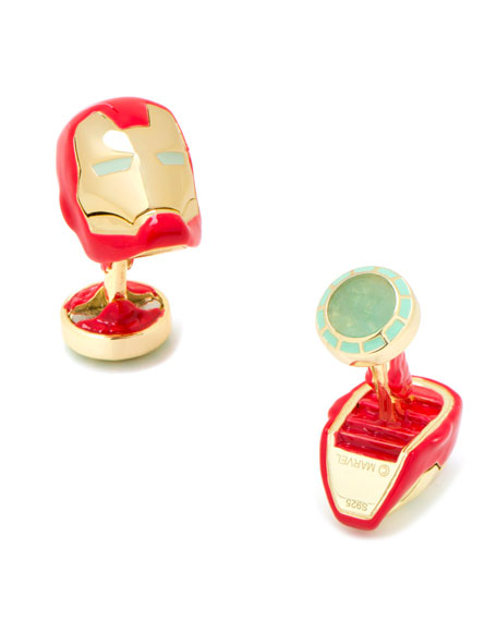 3D Iron Man Cuff Links
