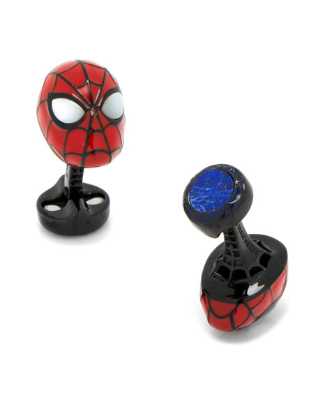 3D Spiderman Sterling Silver Cuff Links